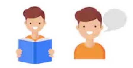 本読んで話す男の子