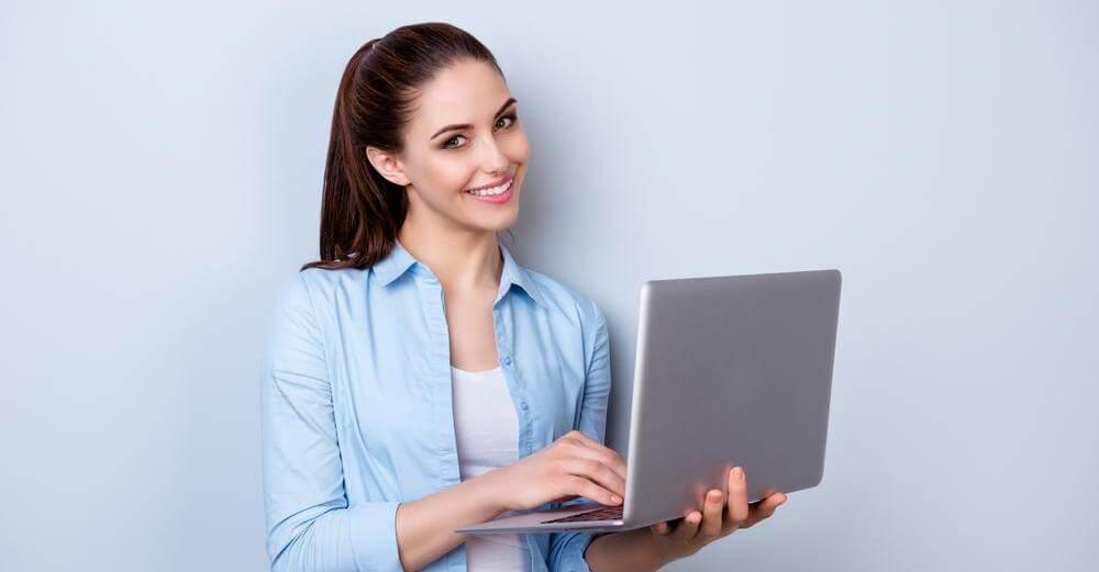 コンピューターと女性