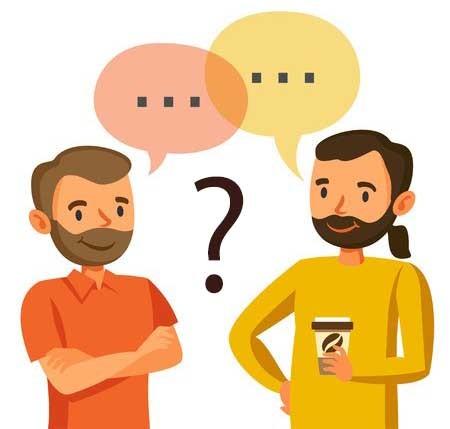 会話が通じない2人の男性