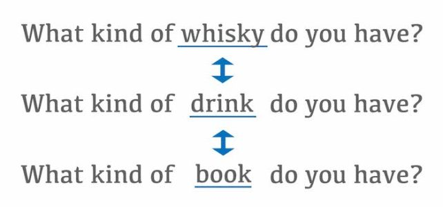 What kind of whisky do you have? の例文